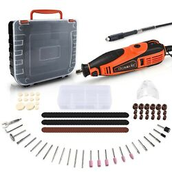 Goxawee Rotary Tool Kit With 180 Rotary Tool Accessories And Flex Shaft And Unive...