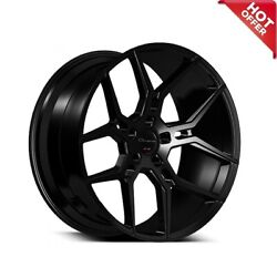 20 Staggered Giovanna Wheels Haleb Black Rims And Tires Package