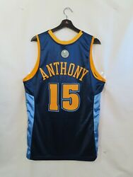 Nwt Mitchell And Ness Carmelo Anthony Denver Nuggets Authentic Nba Jerseymed/40