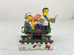 The Simpsons Christmas Express Train Collection Christmas At Moe's Figurine