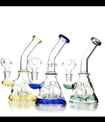 """7"""" Best New Tobacco Hookah Water Bong Pipe Glass 14m Bowl Hand Bubbler Pipes"""