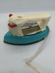 Wolverine Vintage Toy Metal Iron Tin Teal And White Made In Usa Laundry Decor