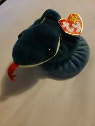 1997 Ty Beanie Baby Hissy Snake Snake Mint Condition