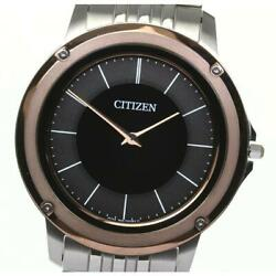 Citizen Eco-drive One Ar5050-58e Solar Menand039s Black Gray Dial From Japan [e0607]