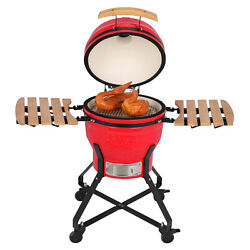 18 Inch Grill Ceramic Charcoal Egg-shaped Grill Outdoor Smoker Grill Bbq Picnic