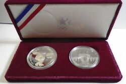 1983 1984 Us Olympic Proof 90 Silver Dollar Set