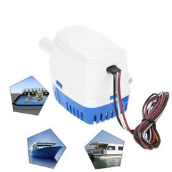 12v Boat Automatic Submersible Bilge Water Pump 3/4inch Outlet With Float Switch