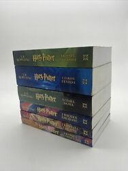 Harry Potter Lot Of 6 Books Polish Language Very Rare Collectors Item Wow