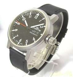 Used Fortis Quartz Analog Wristwatch Stainless Steel With Calf Belt Self-winding