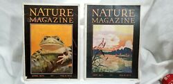 Antique Back Issues Two Nature Magazines April And May 1930 Paul Howes Frog E3