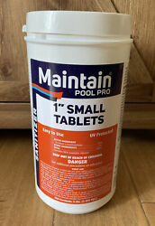 Maintain Pool Pro 1 Inch Chlorine Sanitizer Tablets 5 Pounds New