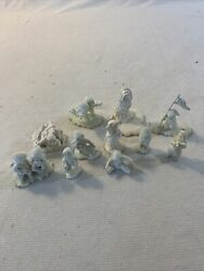 Department 56 Snowbabies White Christmas Pewter Lot Of 11 Mini Figurines