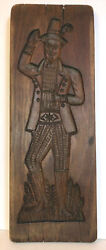 Antique Wood Springerle Mold Cookie Board. Young Gentleman With Flower.