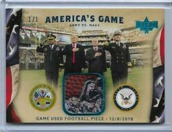 Rarest 2020 Decision Americaand039s Game Army Navy Relic Card 1/1 Masterpiece Trump