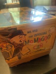 Mr. Magoo Car Hubley Toy, Ge, Electric 60s V Rare Mint In Box Works Great ,