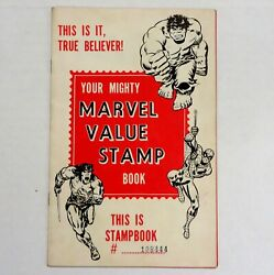 Marvel Value Stamp Book No Stamps Yet Intact Good Shape Rare
