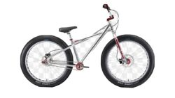 """2021 Fat Quad 26"""" Silver And Red Se Racing Bmx Quadangle Looptail Bike New In Box"""