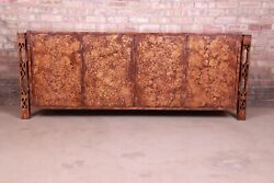 James Mont Style Mid-century Modern Faux Copper Sideboard Credenza
