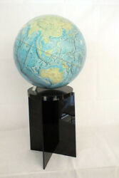 Vtg 1979 National Geographic World Globe With Acrylic Stand Modern Design Mcm