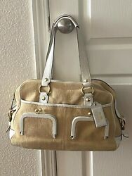 Coach Bleecker Ellie Limited Edition Straw And Leather Satchel Bag 12281 Rare $109.00
