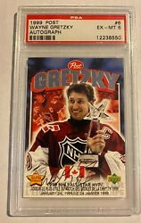 Wayne Gretzky Signed Psa/dna Extremely Rare 1999 Post /299 All Star Mvp Auto