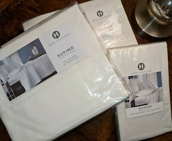 Nwt King Sheet Set Macy's Hotel Collection 680 Thread Count White New W Tags