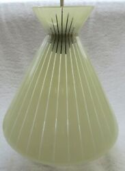 Vtg. Mid Century Modern Atomic Space Age Glass Ceiling Light Fixture - A Beauty