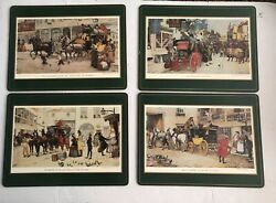 4 Pimpernel Artist A. Ludovici Placemats Cork Backed In Box Made In England