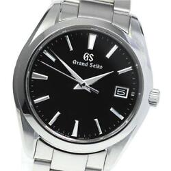 Grand Seiko Date Sbgv223 / 9f82-0af0 Quartz Stainless Steel Menand039s Watch [b0608]