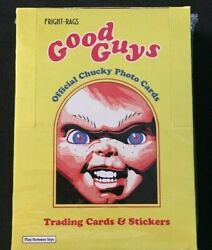 Fright Rags Childand039s Play Chucky Wax Box Trading Cards Factory Sealed Halloween