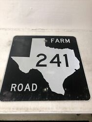 Authentic Retired Texas Farm Road 241 Highway Street Sign