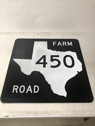 Authentic Retired Texas Farm Road 450 Highway Street Sign