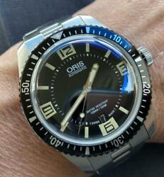 Used Oris Watches Divers 65 Automatic Winding Waterproof Black Color Mirror Dial