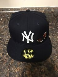 New Era New York Yankees X Felt Size 7 1/2 5950 Fitted Hat In Stock Mlb