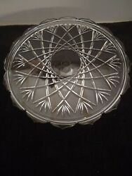 Mikasa Walther Glass Saturn Tort Pedestal Cake Plate Crystal Glass Germany 14