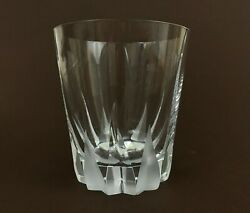 Mikasa Flame D'amore Crystal Frosted Swirl Executive Old Fashioned Tumbler 4 3/8