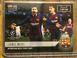 2019 Topps Now Uefa Champions League 43 Lionel Messi Fc Barcelona
