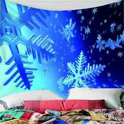 Blue Nice Snowflakes 3d Wall Hang Cloth Tapestry Fabric Decorations Decor