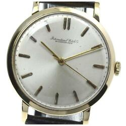 Cal.89 Antique Manual K18yg Gold Dial Leather Men's Watch From Japan [b0609]