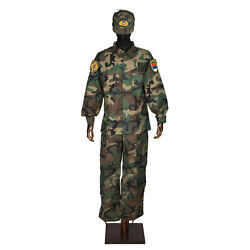 Special Police Unit Pjp Woodland Pattern Soldier Uniform And Patches Dhl Express