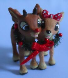 Red-nosed Reindeer Rudolph And Clarice Ornament Island Of Misfit Toys 2001 Carlton