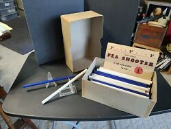 Vintage Toy Store Display Box 74 Pea Shooters Box And Sign
