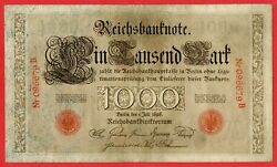 Germany Empire Imperial Reichsbanknote 1000 Mark 1898 Serie B 096679