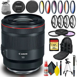Canon Rf 50mm Usm Lens Intl Model With Monopod, Tripod, 32gb Memory, And More