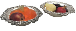 Pair Of And Co. 1898 Sterling Silver Berry Bowls In Art Nouveau Style