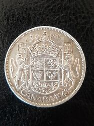 1943 50 Cent Canadian Coin
