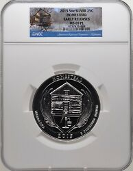 2015 5oz Silver 25c Homestead Ngc Ms 69pl Proof Like Early Releases Must See
