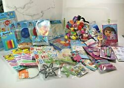 Large Mix lot 100 of birthday party favors items Dora explorer Dollar General