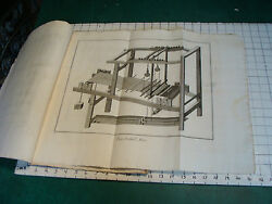 Original Engraving 1760and039s 10 1/2 X 16 Tisserand Weaving 9 Pages Some Pull Out