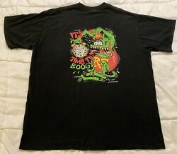 """Vintage 1990s Ed """"big Daddy"""" Roth Rat Fink 2xl T-shirt It's Time To Boogy 1995"""